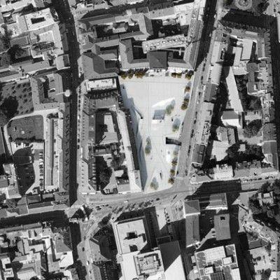 Austriackie biura projektowe LAAC Architekten oraz Stiefel Kramer Architecture przy współpracy z Christopherem Grünerem zaprojektowały plac publiczny w Insbrucku składający się z pofałdowanych betonowych powierzchni. http://www.sztuka-krajobrazu.pl/402/slajdy/przestrzen-publiczna-ndash-plac-w-innsbrucku