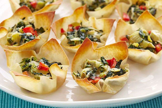 Warm Spinach & Artichoke Cups | Recipe | Warm, Places and The o'jays
