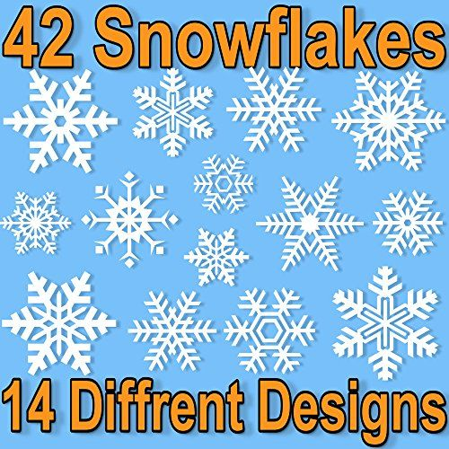 Best Window Stickers Images On Pinterest - Snowflake window stickers amazon