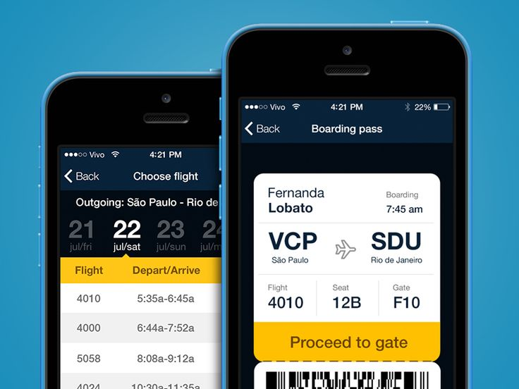 Azul Airlines -iPhone app by Rico Monteiro