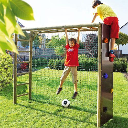 Bekletterbares Fußballtor, Rundholz   – Cool Kids Gifts