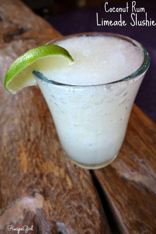 Coconut Rum Limeade Slushie