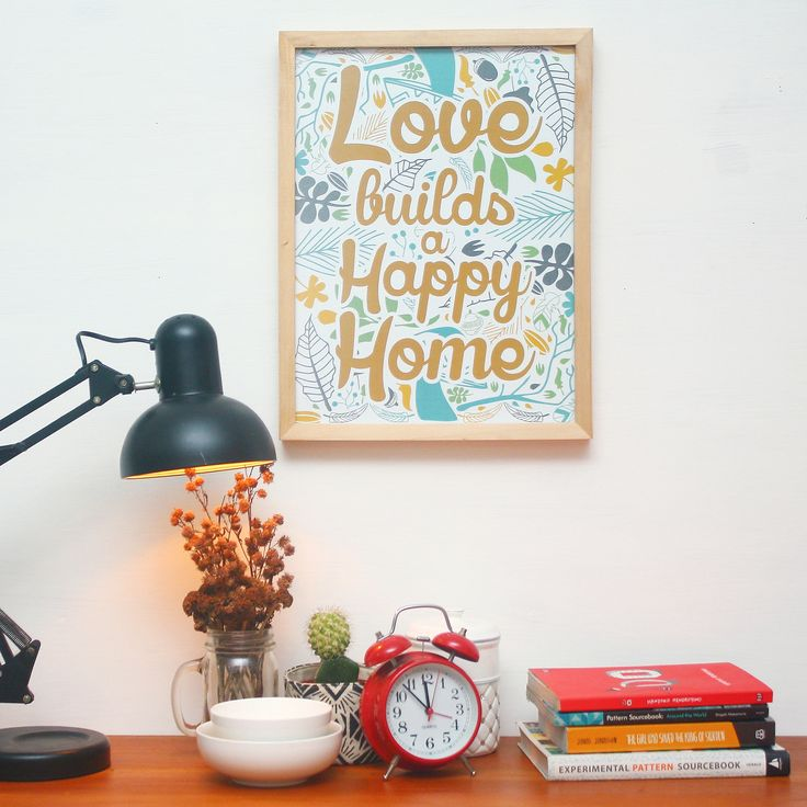 JUNI15-01 // Love builds a happy home. Indeed!