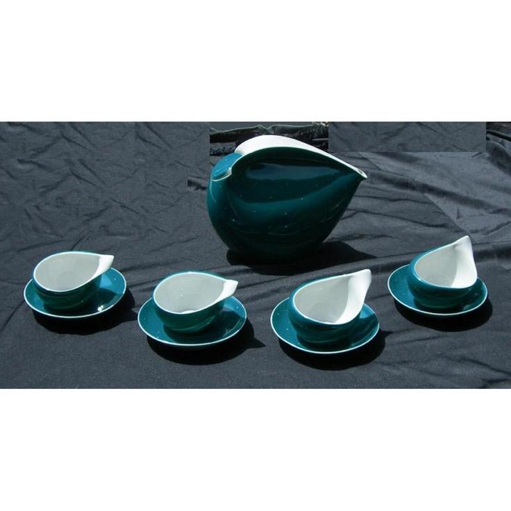 Fabulous Retro Cmielow Polish Porcelain Space Age Tea Set. $525.00, via Etsy.
