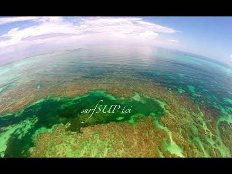 dji phantom 2 drone sup surfing stand up paddle boarding in the turks and caicos - YouTube