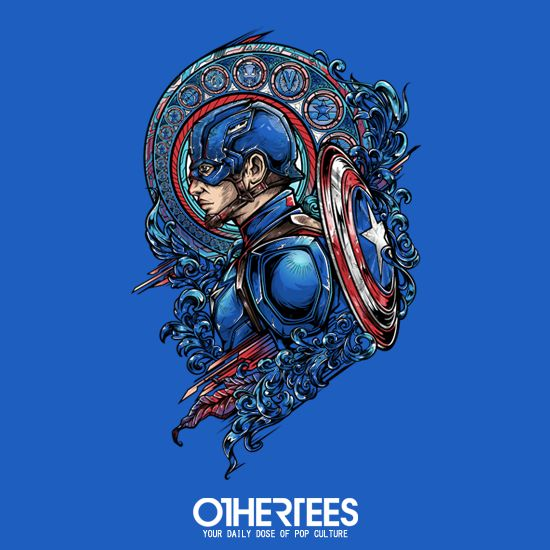 """""""CAPTAIN SIDE"""" by JML2ART T-shirts, Tank Tops, V-necks, Hoodies and Sweatshirts are on sale until October 25th at www.OtherTees.com #tshirt #othertees #clothes #popculture #captainamerica #marvel #comics #civilwar #ironman #tonystark"""