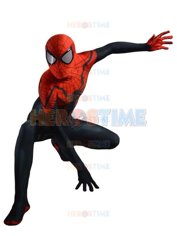 2015 El Más Nuevo Superior Traje de Spider man 3D Impresión spandex Negro Rojo Spiderman superhero disfraz para halloween envío libre en de en AliExpress.com | Alibaba Group