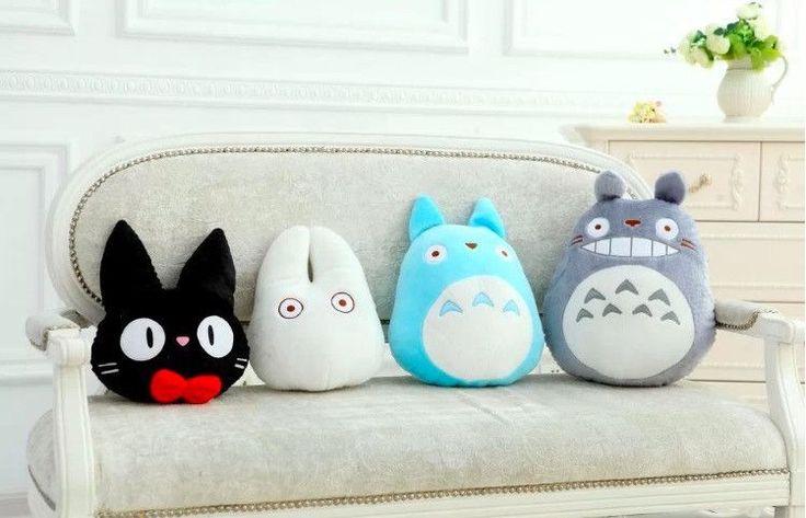Totoro Family Cat Cushion Pillow