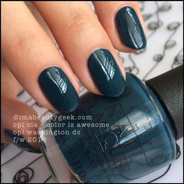 OPI CIA = Color is Awesome – OPI Washington DC Fall/Winter 2016