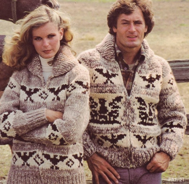 Vintage Pattern: Cowichan Style Sweater with Eagle. I will make this someday.