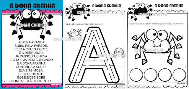 Apostila De Atividades Dona Aranha Educacao Infantil Para Imprimir