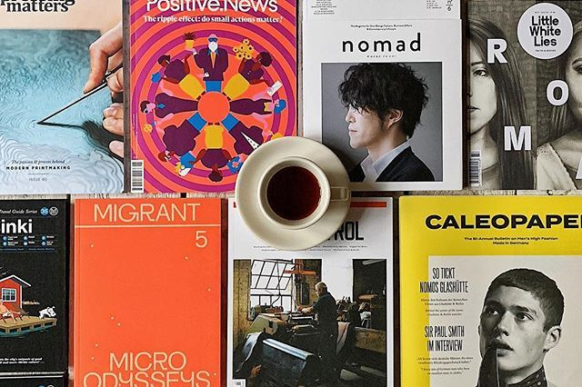 Hello Sunday! And again this Sunday Reading is dedicated to the many wonderful new arrivals in our shop (touch the picture for a link): @pressingmattersmag @positivenewsuk @nomad__magazine @lwlies @monocletravel @migrant_journal @gearpatrol and @caleopaper. You can order all of them 24/7 in our online shop. Enjoy your Sunday!  #sundayreading #coffeetablemags #magazineshop #indiemags #happinessinmagazines #maglovers #magloversahoy #hamburg