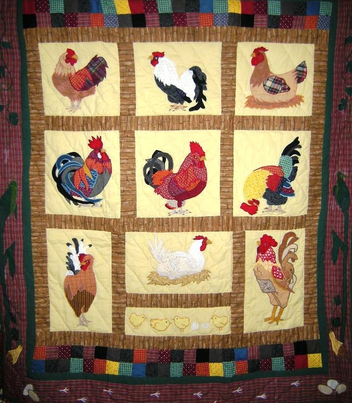 74 best Rooster quilts images on Pinterest | Roosters, Chicken ... : rooster quilt pattern - Adamdwight.com