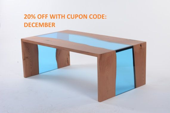 Modern Coffee table - Live edge coffee table - Coffee table - Waterfall
