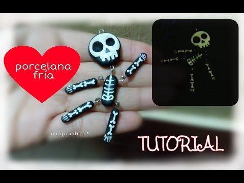 Charms Esqueleto de  PORCELANA FRIA - YouTube