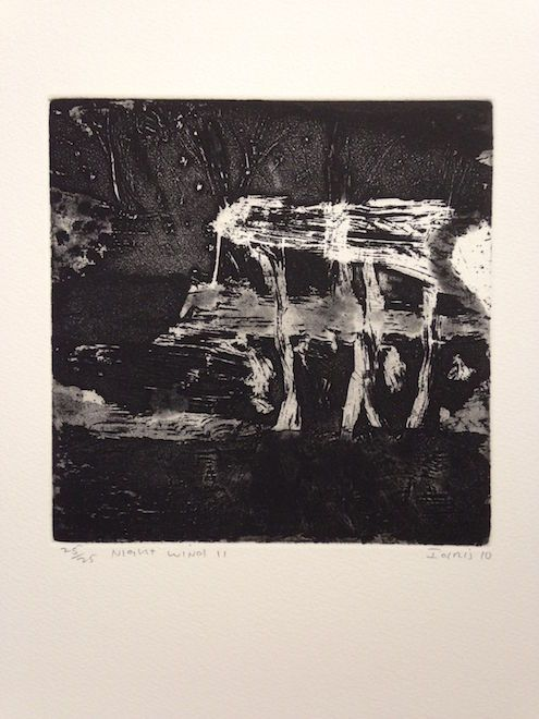 Night Breezes II 2014 etching 20x19.5cm