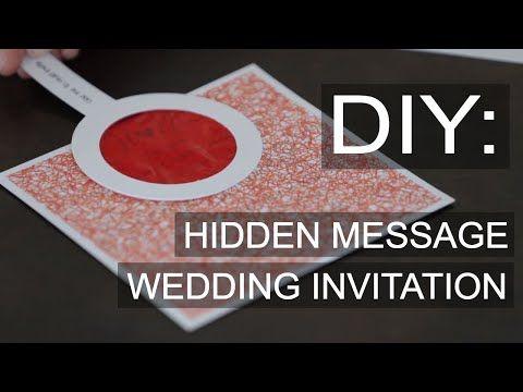 DIY Wedding Invitation Hidden Message Decoder - Pink Book Weddings - YouTube