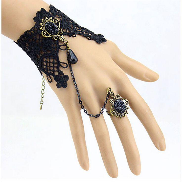 Damen Armband Gothic Collier Acryl Spitze - Armband in Bekleidung Accessoire  • Schmuck