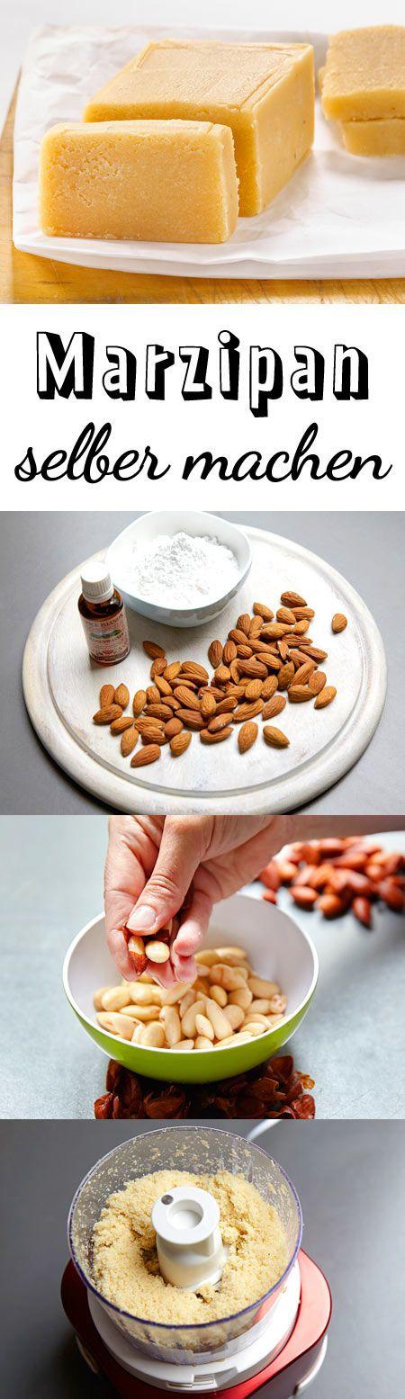 So kannst du aus nur drei Zutaten wunderbar aromatisches Marzipan zubereiten.