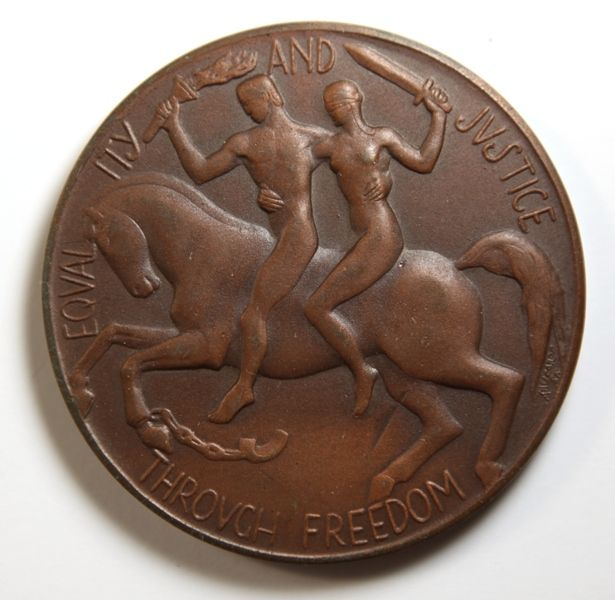 1951 Large Commemorative Medal - Centenary of Govt of Victoria - Art Deco Design