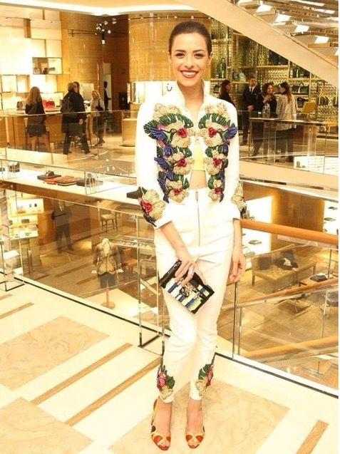 Meravigliosa Marianna Di Martino Official in O Jour open toe 'Ortensia' al cocktail di Louis Vuitton a #Roma