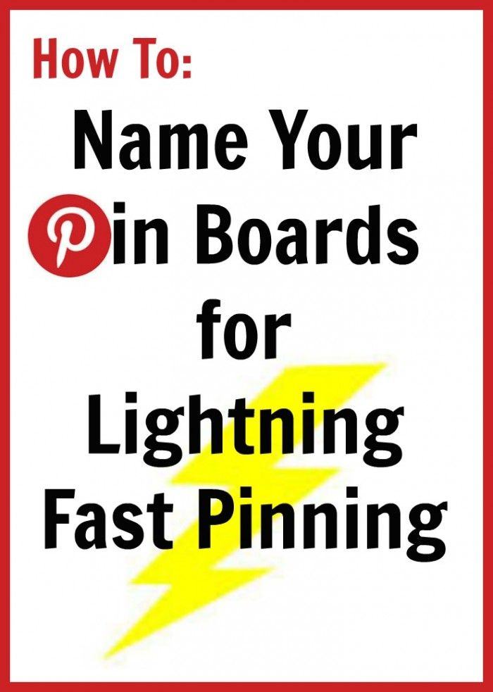 Organize your pin boards by renaming them so you can find the one you want quicker and easier