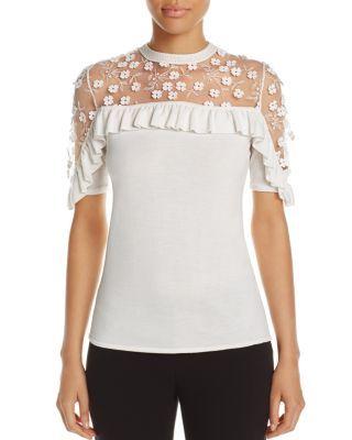 Elie Tahari Flora Merino Wool Sweater   Bloomingdale's