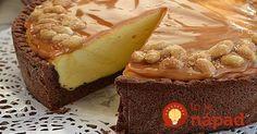Fantastická torta z jemného kakaového cesta, fantastického tvarohového krému a lahodnej karamelovej polevy s orechmi naloženými v mede. Jednoducho dokonalý dezert na nedeľné popoludnie.