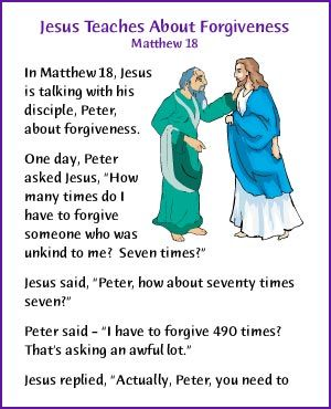 Jesus Teaches About Forgiveness (Story) - Kids Korner - BibleWise