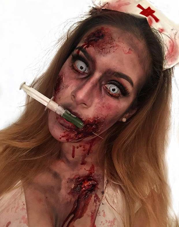 21 Scary Halloween Makeup Ideas                                                                                                                                                                                 More