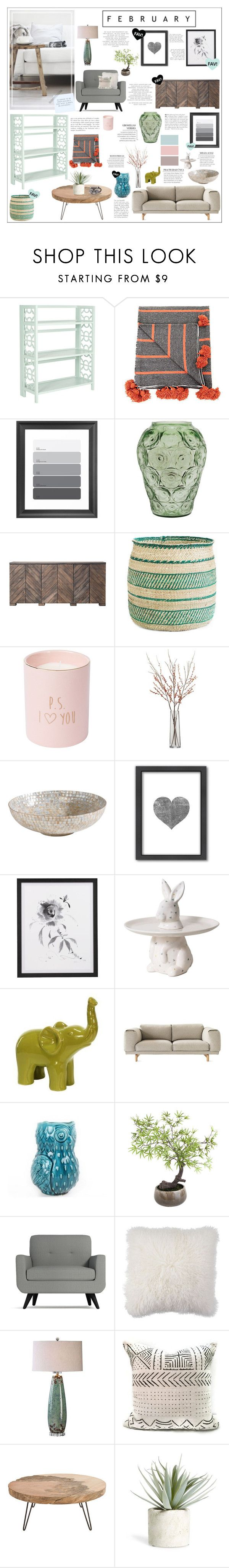 """Feburary"" by honey-beans-xo ❤ liked on Polyvore featuring interior, interiors, interior design, home, home decor, interior decorating, Dot & Bo, Lalique, Crate and Barrel and Ethan Allen"