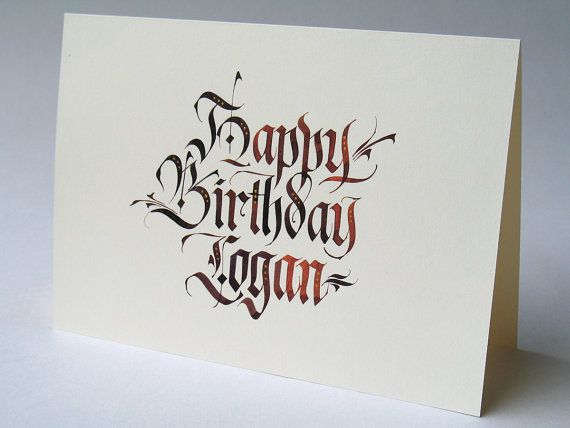 Best 25 Calligraphy birthday card ideas – Bespoke Birthday Cards