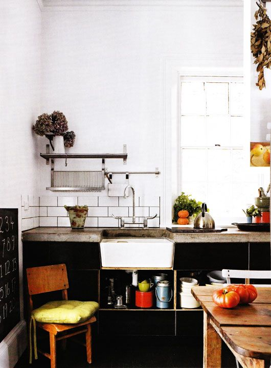 Small kitchen. Little kitchen. Tiny kitchen. Apartment. Small spaces. Small space living. Compact. Farm sink.