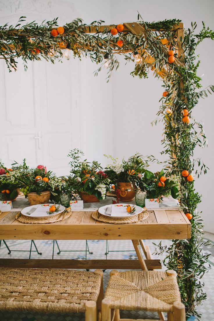 wedding inspiration with fruit - photo by Paula G Furio http://ruffledblog.com/1920s-mediterranean-wedding-inspiration-in-valencia-spain