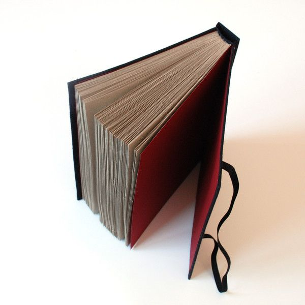 Special Format – black eco with rubber closing B5, 150pages – a unique product by Kajet on DaWanda