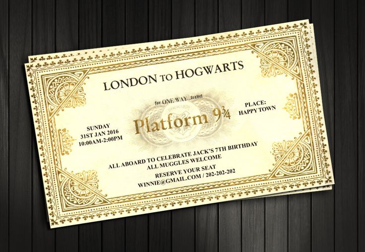 Harry Potter Invitation, Train Ticket Invitation , Harry Potter Hogwarts Express Ticket, Birthday / Baby Shower / Bridal Shower / Printable by pastagetti on Etsy https://www.etsy.com/listing/243082938/harry-potter-invitation-train-ticket