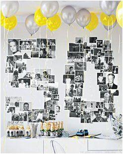 """Mur photos """"50 ans"""""""