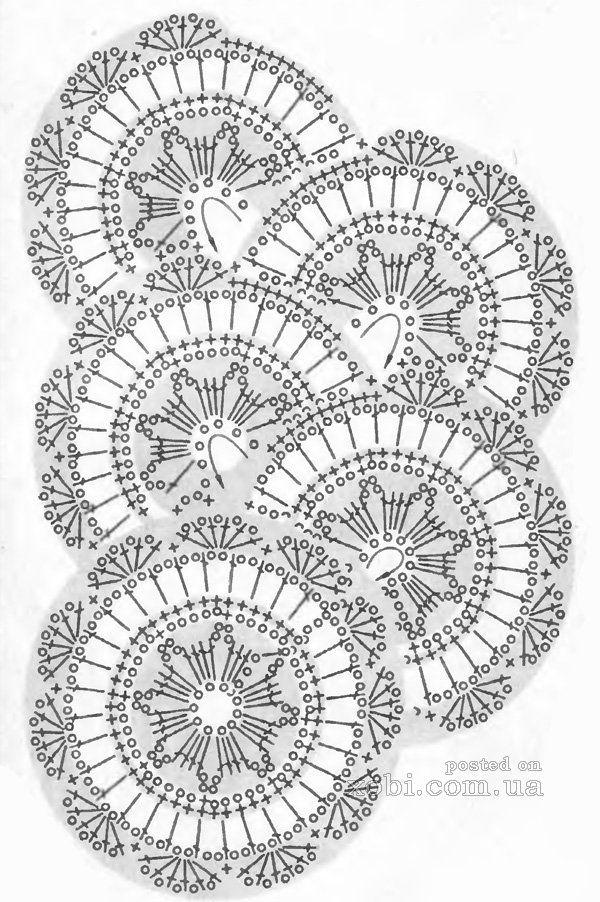 ленточное кружево 87 - схема вязания