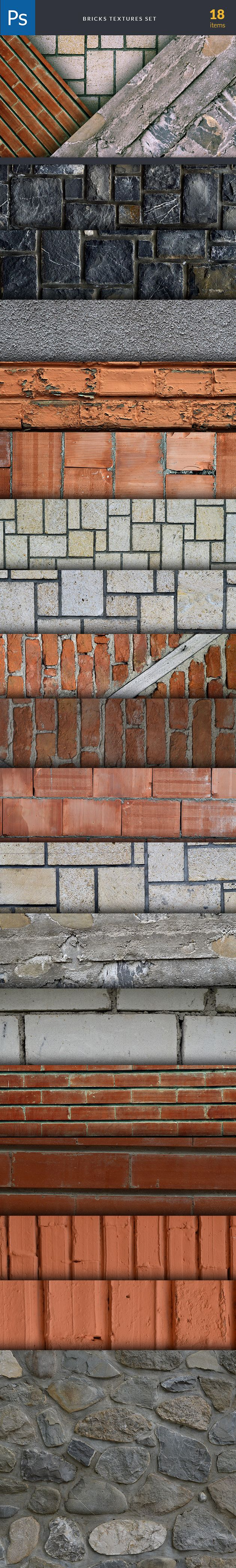 Brick Textures are part of The Ultimate Textures Bundle. Find and buy them here: https://www.inkydeals.com/deal/the-ultimate-textures-bundle-2/