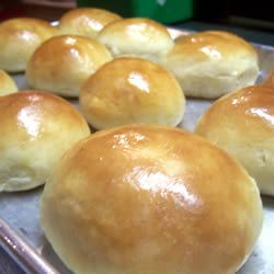 Rolls:  made dough and froze in small balls after first rise.  Thawed 4 hours, brushed with melted butter,  baked at 350 for 14 minutes and they were great.
