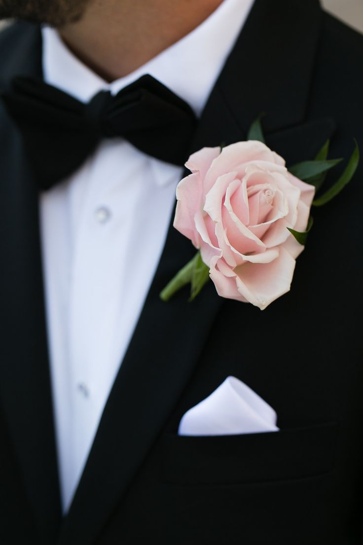 elegant single rose boutonniere