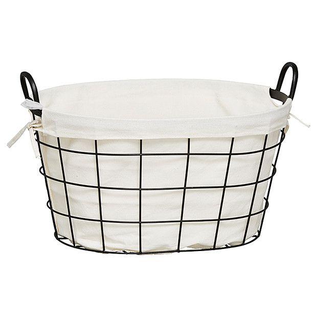 Metal Laundry Basket - Black | Target Australia