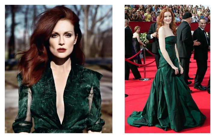 Redhead wearing green RED HAIR COLOR TREND FW 2016 2017 rosso colore moda capelli inverno 2017 verde collage