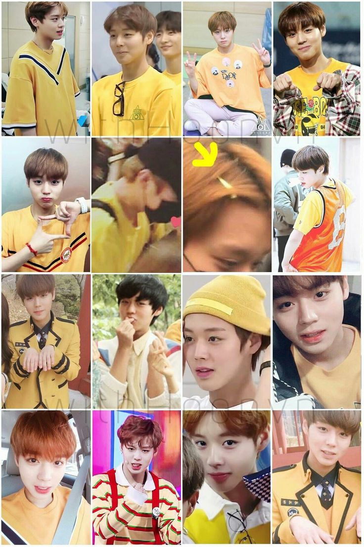 park jihoon in yellow!! a concept
