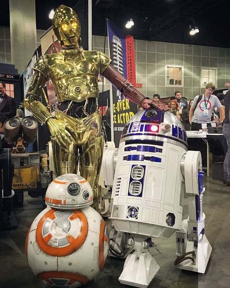 c3p0 and r2d2 meet bb8 droid