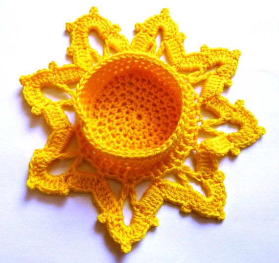 Crocheted Snowflake Candle Holder
