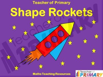 EYFS / Lower KS1 Maths Teaching Resources – Shape Rockets. In this teaching resource pupils practise identifying triangles, circles, squares and rectangles to help them develop their knowledge of basic shapes. The interactive lesson uses KS1 pupil friendly colour, imagery and animation to make this an engaging learning experience. http://www.teacher-of-primary.co.uk/resource.php?id=1078
