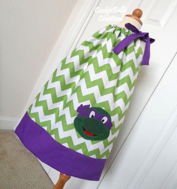 Ninja Turtles Donatello Chevron Pillowcase by CookieBellaCreations, $26.00