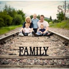 family photo ideas railroad tracks - Google Search yes everyone should have there family pose on tracks!!