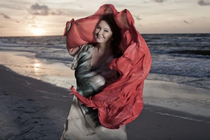 #AnnaDymna na plaży w Lubiatowie fot. M. Kowalski #morze